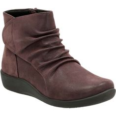 cde021243fc5 Sillian Chell Aubergine Synthetic Nubuck - Wide Shoes for Women - Clarks®  Shoes Official Site