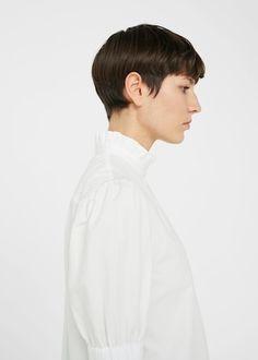 Ruffle neck shirt | MANGO