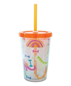 Take a look at this Dinosaur 10-Oz. Insulated Lidded Tumbler on zulily today!