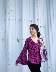 Handmade Wardrobe // Full on floral Megan Nielsen Dove blouse