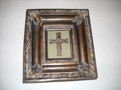 "cross picture made of wood and for sale in my store The Chic N Prim cottage ebay have to put in the ""the "" in search engine $10+ FREE Shipping when you spend $30 or more! resin religious wall decoration art christian"