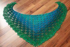 Butterfly shawl Hæklet sjal, gratis opskrift