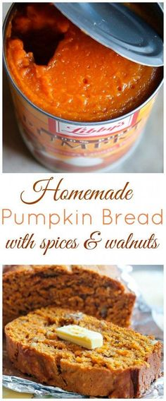 Spiced Pumpkin Bread with Walnuts is moist and flavorful!