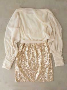 Sparkling Darling Dress in Ivory...if this was just a little bit longer..