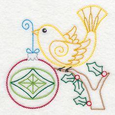 Christmas Whimsy Bird and Bulb 8 (Vintage)