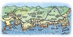 """Résultat de recherche d'images pour """"cape arago state park map"""""""