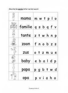 Dit taal werkblad en nog veel meer in het thema familie kun je downloaden op de website van Juf Milou.