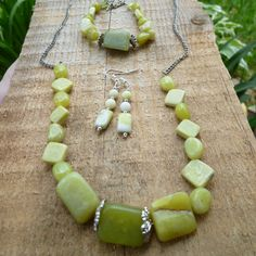 olive jade set by DesisdesignsShop on Etsy
