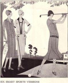 Women's golf clothing circa 1926