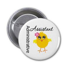 Cute Career Chick Administrative Assistant Pin #administrativeprofessionalsday #appreciationpin #appreciationsgifts