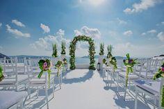 Gay destination wedding in Santorini. Planning, design, decoration & florals by Fabio Zardi. Photo by Adonis Kekidakis Mykonos, Santorini, Greece Wedding, Romantic Moments, Destination Weddings, Night Life, Gay, In This Moment, Beach