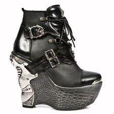 New Rock Panzer Negro gothic/punk Para Mujer Botas m.pz001-s7