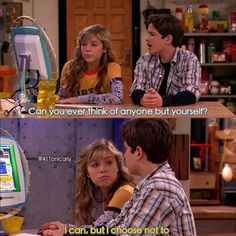 Sam Puckett being the realist of real.