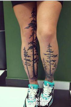 Home - tattoo spirit - Street Tattoo # Body art - Wolf Tattoos, Elephant Tattoos, Leg Tattoos, Body Art Tattoos, Tattoo Ink, Tree Leg Tattoo, Leg Sleeve Tattoo, Tattoo Thigh, Inner Thigh Tattoos