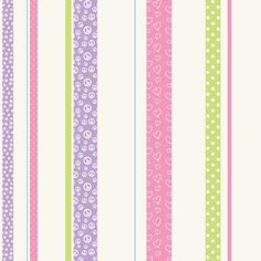 Product Description Contemporary Modern JE3581 - Friends Forever Patterned Stripe Lavender-Pink-Green Wallpaper. Pleasant and delightful, this wall decor features an embellished stripe pattern over a