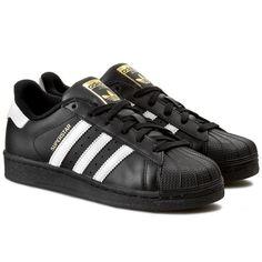 Schuhe adidas - Superstar Foundation J B23642 CBlack#x2F;FtWht