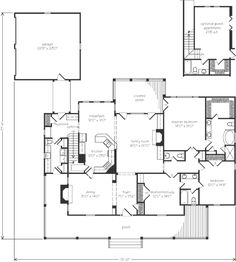 Looking for the best house plans? Check out the New Round Hill plan from Southern Living. Best House Plans, Dream House Plans, Small House Plans, House Floor Plans, My Dream Home, Building Plans, Building A House, Create Floor Plan, Southern Living House Plans