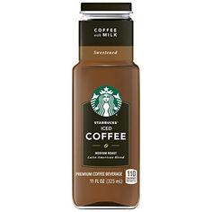 Starbucks Iced Coffee Black Unsweetened - 11 fl oz Can How To Order Starbucks, Starbucks Secret Menu, Starbucks Drinks, Starbucks Coffee, Coffee Milk, Best Coffee, Coffee Shop, Vietnamese Iced Coffee, Starbucks Caramel