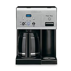 I like this...but wish it had an option for a single cup of coffee. Cuisinart® 12-Cup Programmable Coffee Maker with Hot Water System