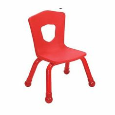 """11.5"""" Plastic Classroom Stacking Chair (4 Pack) Seat Color: Grass Green by Brite Kids. $140.83. 34500 Seat Color: Grass Green Features: -Stacking chair.-Intended for both children and teachers.-Reinforced steel back for added support.-Legs fitted with plastic boots.-Easy to lift and carry.-Shield-shaped cut out back of chair promotes proper sitting posture.-Capacity: 300 lbs. Warranty: -Limited lifetime warranty."""