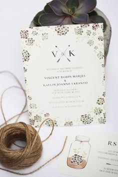 Kelli Murray | SUCCULENT INSPIRED WEDDING INVITATION Kelli Murray
