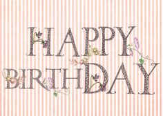 need a birthday greeting with hand drawn fonts? asketchaday-ConnecticutRamblings: NEW DESIGN