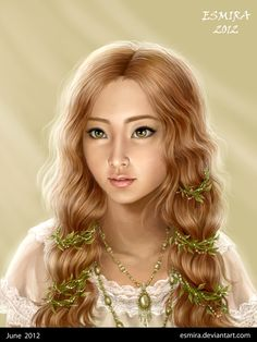 Morning light by ~Esmira (She looked like a very young Galadriel)