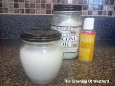 coconut oil does triple beauty duty - The Greening Of Westford.  Whip with vitamin E and use as a moisturizer, eye cream and eye makeup remover.