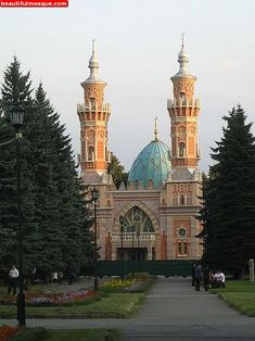 Religion ► The Mukhtarov Mosque in North Ossetia was constructed in the early it was financed by Baku millionaire Murtuza Mukhtarov. The building was restored in the Temple Architecture, Ancient Greek Architecture, Islamic Architecture, Beautiful Mosques, Beautiful Buildings, Temples, High Building, Grand Mosque, Famous Places