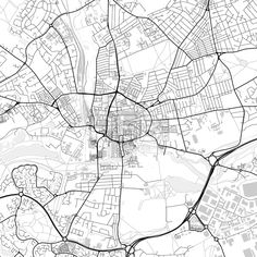Downtown vector map of Northampton. Very detailed version for infographic and marketing projects. This map of Northampton, England, contains typical l... ... #download #map #infographic  #marketing #travel #city #germany #german# #beautiful #map #communication #design #background #hebstreit