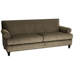 Carmen Sofa - Taupe  I love the simple lines on this, and the material is great too.  So comfy!