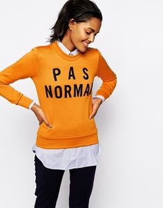 Enlarge Wood Wood Maya Sweatshirt with P a s Normal Patched Design