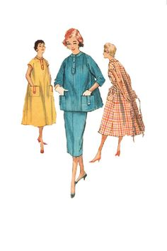 Vintage Maternity House Coat Tent Dress by AdeleBeeAnnPatterns