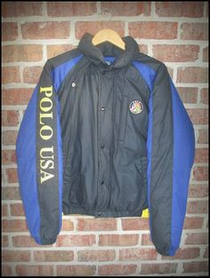 42d1fa1d Vintage 90's Polo Ralph Lauren Polo USA Cookie Down Winter Jacket - Size  Medium by CharchaicVintage, $225.00