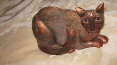 3D Cat Art Marsha McCarthy resin CAT Cats Signed bronze | eBay