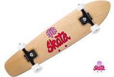 impresión de logo sobre tabla de skate