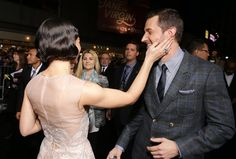 Richard Armitage and Evangeline Lilly at The Hobbit: The Battle of The Five Armies Premiere in Los Angeles