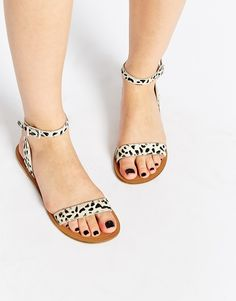 Image 1 of ASOS FANCY ME Leather Sandals