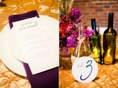 menu & wine bottles