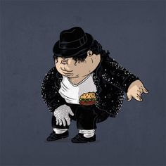 MJ | Morbidly obese versions of iconic pop culture characters by Alex Solis
