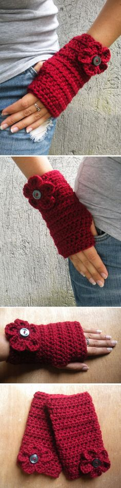 Fingerless wrist warmers to crochet *Inspiration*