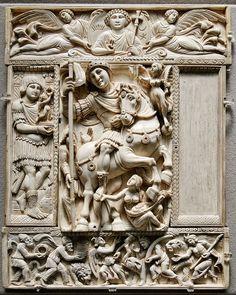 Диптих Барберини — хранящееся в Лувре византийское изделие из слоновой кости, выполненное в античном стиле. Это изображение императорского триумфа традиционно датируется первой половиной VI века, а император обычно отождествляется с Анастасием I или, что более вероятно, Юстинианом I.