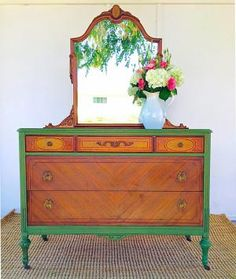 25 Ways to Upcycle Your Dresser: Add Bright Color, But Just a Bit
