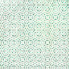 Behang Aqua print (Bloomingville) - Woonwinkel Siep