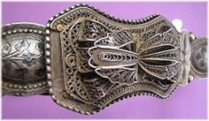 Circassian woman's belt.  Silver, ca. 1900.