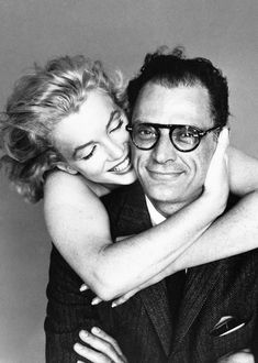 Marilyn Monroe and Arthur Miller photographed by Richard Avedon, 1957.