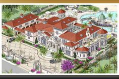 mediterranean style homes exterior House Plans Mansion, Luxury House Plans, Luxury Homes Dream Houses, Dream House Plans, Luxury Mediterranean Homes, Mediterranean House Plans, Mediterranean Decor, Mediterranean Architecture, Tuscan Homes