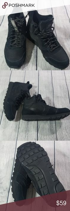 NIKE MD RUNNER 2 MID PREM SNEAKERS BLACK NIKE MD RUNNER 2 MID PREM SNEAKERS BLACK Purchased w/out box.  Tags attached Nike Shoes Sneakers