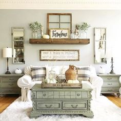Stunning 39 SImple Rustic Farmhouse Living Room Decor Ideas https://cooarchitecture.com/2017/06/07/39-simple-rustic-farmhouse-living-room-decor-ideas/