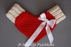 Valentines day LOVE Gloves Crochet